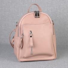 Женский кожаный рюкзак B070106-powder пудра