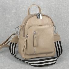 Женский кожаный рюкзак B070113-capucino капучино