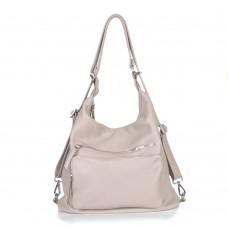 Женский кожаный рюкзак-трансформер B530113-capucino капучино