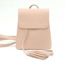 Женский кожаный рюкзак B030102-powder пудра
