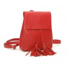 Женский кожаный рюкзак B030101-red красный