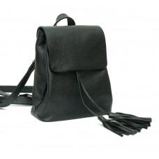 Женский кожаный рюкзак B030105-black черный