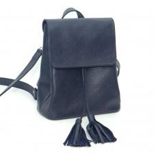 Женский кожаный рюкзак B030104-dblue синий
