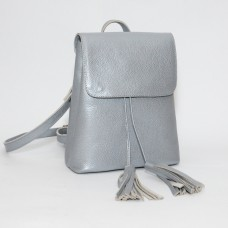 Женский кожаный рюкзак B030107-silver серебро