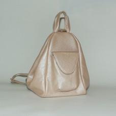 Женский кожаный рюкзак-трансформер B040116-powder пудра
