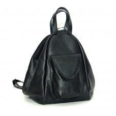Женский кожаный рюкзак-трансформер B040105-black черный