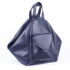 Женский кожаный рюкзак-трансформер B040103-dblue синий
