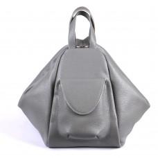Женский кожаный рюкзак-трансформер B040104-gray серый