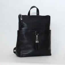 Женский кожаный рюкзак-трансформер B050101-black черный