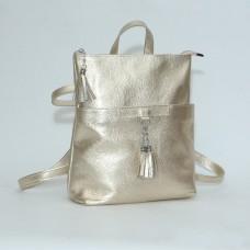 Женский кожаный рюкзак-трансформер B050110-gold золотой