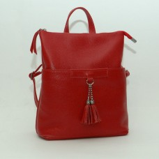Женский кожаный рюкзак-трансформер B050103-red красный