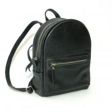 Женский кожаный рюкзак B020101-black черный