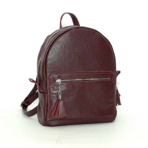 Женский кожаный рюкзак B020109-grapes виноградный