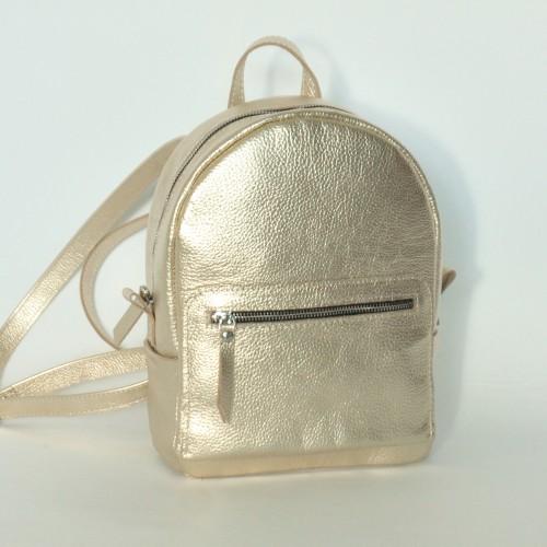 Женский кожаный рюкзак B020110-gold золотой