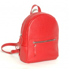 Женский кожаный рюкзак B020104-red красный