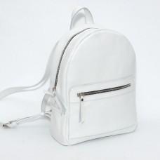 Женский кожаный рюкзак B020107-white белый