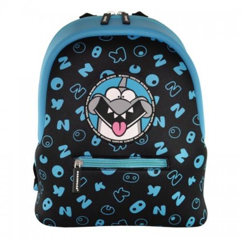 Рюкзак дошкольный KOKONUZZ-BE HAPPY с акулой черно-синий