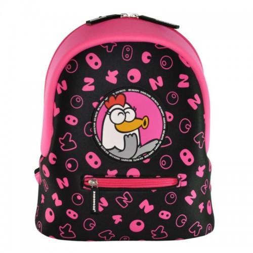 Рюкзак дошкольный KOKONUZZ-BE HAPPY с курицей черно-малиновый