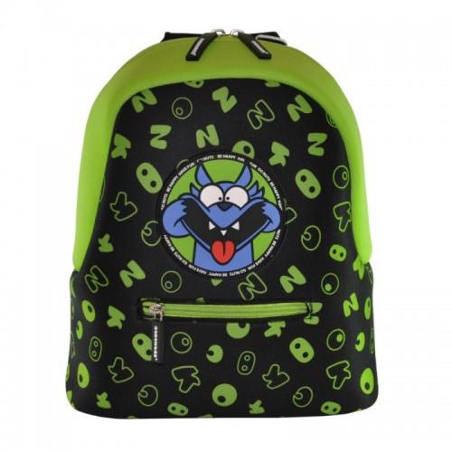 Рюкзак дошкольный KOKONUZZ-BE HAPPY с собакой черный с салатовым