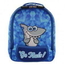 Рюкзак дошкольный KOKONUZZ-GO NUTS с акулой голубой