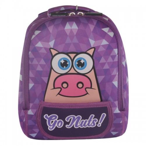 Рюкзак дошкольный KOKONUZZ-GO NUTS со свиньей фиолетовый