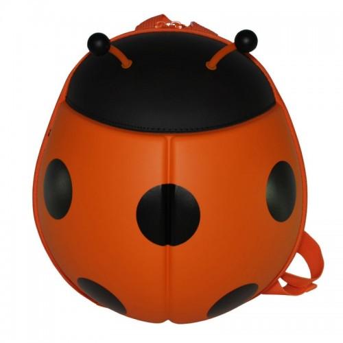 Рюкзак дошкольный SUPERCUTE в виде божьей коровки оранжевый