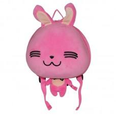 Рюкзак дошкольный SUPERCUTE в виде зайчика розовый