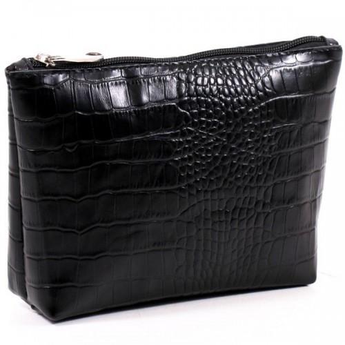 Женская косметичка кожаная CB010201-chernaja кайман черная