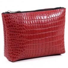 Женская косметичка кожаная CB010203-krasnaja кайман красная