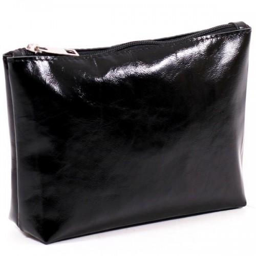 Женская косметичка кожаная CB010401-chernaja наплак черная