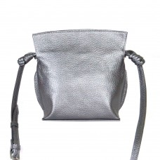 Сумка кожаная женская через плечо S500115-nikel никель