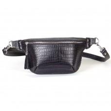 Поясная сумка женская WB010201-black кайман черная