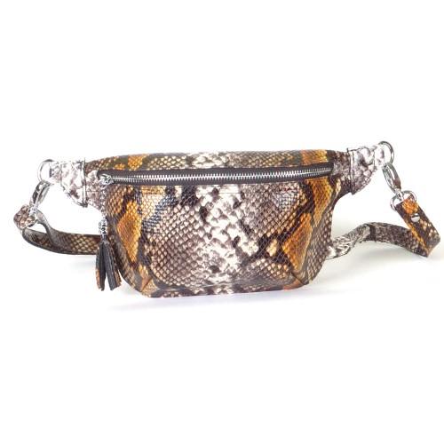 Поясная сумка женская WB010734-multic питон