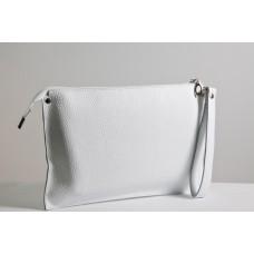 Женский клатч кожаный K010105-white белый