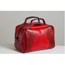 Сумка кожаная женская S060203-red кайман красная