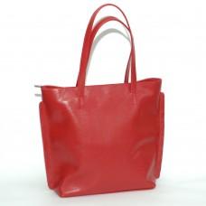 Сумка кожаная женская S110103-red красная