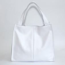 Сумка кожаная женская S120105-white белая