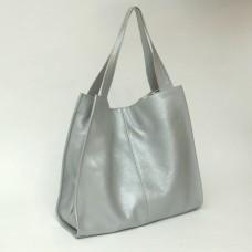 Сумка кожаная женская S120107-silver серебро