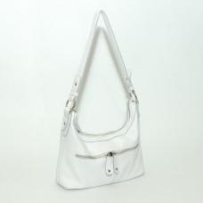 Сумка кожаная женская S130105-white белая