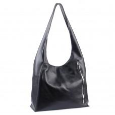 Сумка кожаная женская S180101-black черная