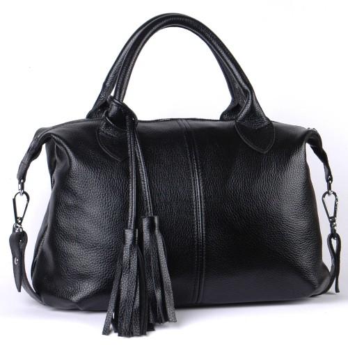 Сумка кожаная женская S200101-black черная