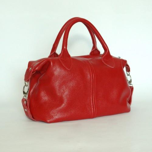 Сумка кожаная женская S200103-red красная