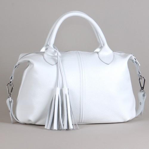 Сумка кожаная женская S200105-white белый