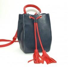 Сумка кожаная женская S250143-bluered сине-красная